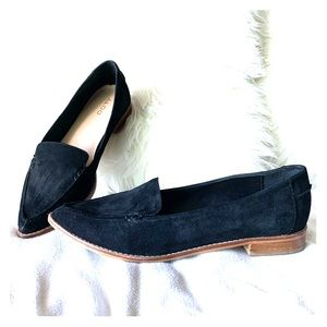 Aldo Black Suede Leather Pointy Toe Loafer